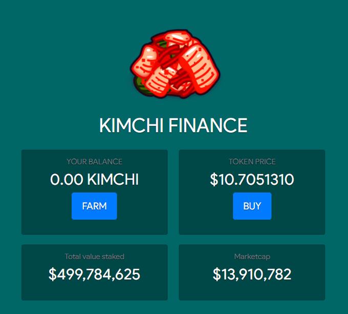 Fél milliárd dollárnyi lekötést gyűjtött össze az új DeFi projekt néhány óra alatt kimchi