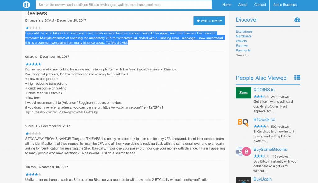 binance scam review vélemények