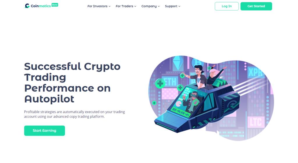 coinmatics bitcoin kriptovaluta copy trading kereskedo masolas platform