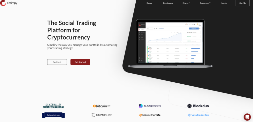 shrimpy bitcoin kriptovaluta kriptopénz copy trading másoló platform