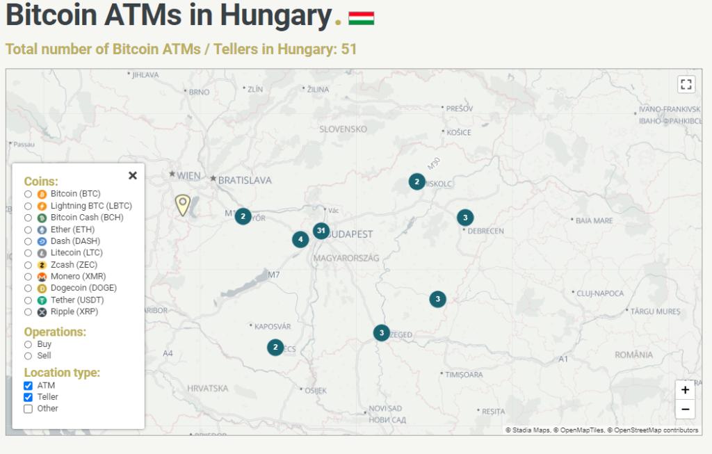 bitcoin atm vásárlás automata magyarországon