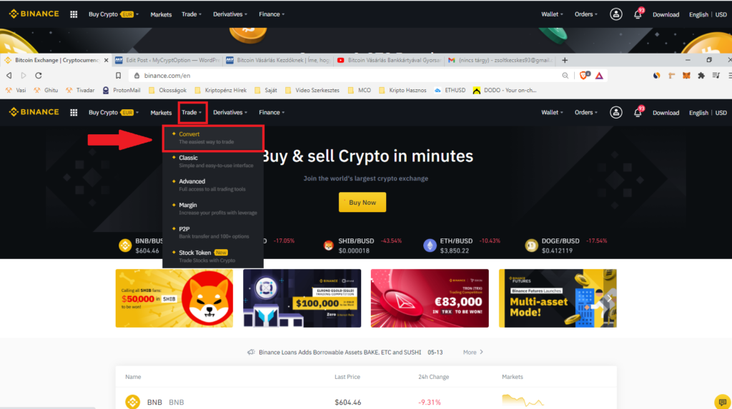 bitcoin vasarlas kezdoknek binance convert